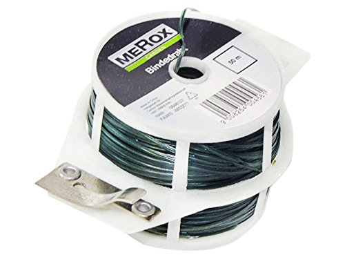 2x-wire-for-plants-2-x-50-green-metter-with-integrated-cutters-merox-strap-plants-fastening