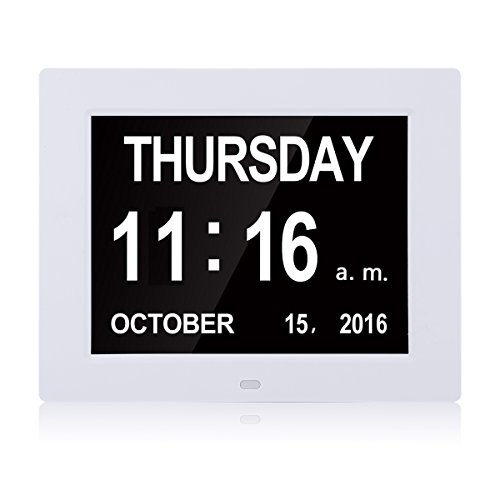 Large Digital Clock -The Original Memory Loss Digital Calendar Day Clock with Extra Large Non-Abbreviated Day & Month.8