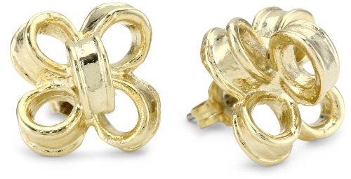 Tuleste Market Ribbon Gold Stud Earrings