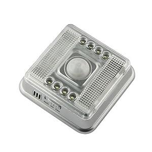 8-LED Light Lamp PIR Auto Sensor Motion Detector