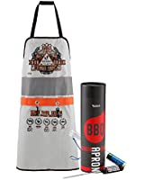 BBQ King Barbeque Man Apron with Digital Meat Thermometer - Carnivore