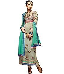Shelina exclusive women Grey satin salwar suit