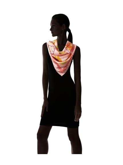 Hermès Women's La Mécanique des Idées Scarf, Peach/Brown