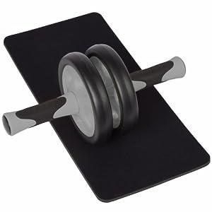 Ultrasport AB Roller - Rodillo de abdominales, color negro