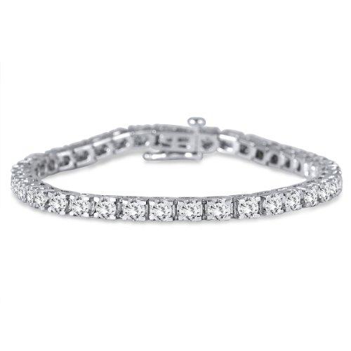 7.00 Carat Diamond Tennis Bracelet in 14K White