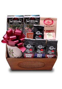 San Francisco Bay Coffee, Gourmet Coffee & Tea Gift Basket