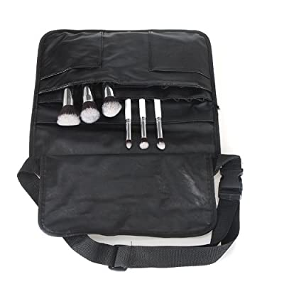 Docooler Professional PU Cosmetic Makeup Brush Bag Apron with Artist Belt Strap