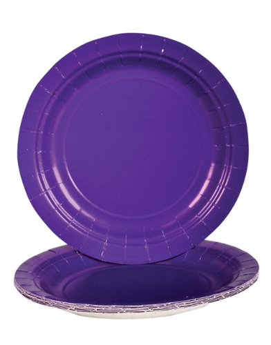 Purple Dessert Paper Plates (25 pc)