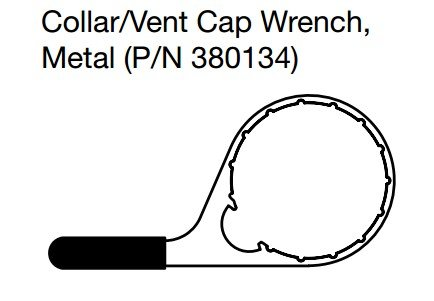 Davco 380134 382 Colar Vent Cap Wrench Metal