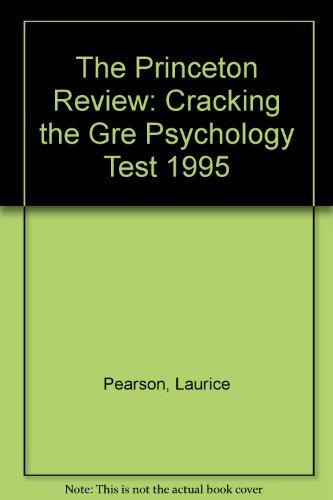 PR GRE PHYSCOLOGY 1995