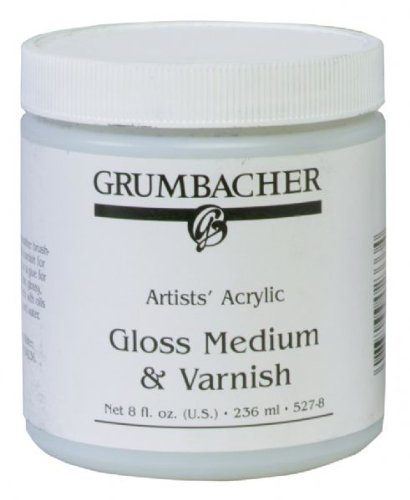 Alvin GB5278 Gloss Medium & 8 oz Vernis