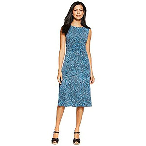 Jessica Howard Petite Printed Ruched A-Line Dress 6P