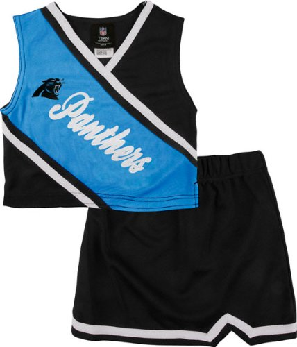 Carolina Panthers Girls 7-16 2 Piece Cheerleader Set at Amazon.com