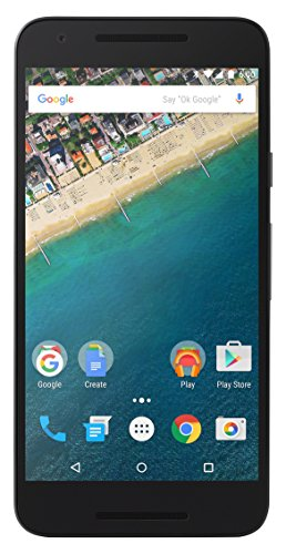 "LG Nexus 5X Smartphone, Display Touch da 5,2"" Full HD, 4G/LTE, 12.3 MP + 5 MP, 2 GB RAM, 32 GB Memoria Interna, Android 6.0, Carbon"