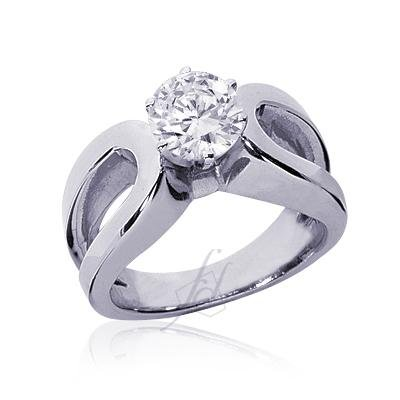 1 Ct Round Diamond Solitaire Engagement Ring