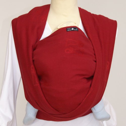 c92d5c83be7b  2 Didymos - 40407 - Echarpe de portage - Nino - Rouge Rubis - T 7 (520 cm)
