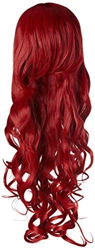 Aicos lunga, piega ondulata, colore: rosso scuro, resistente al calore, per BATMAN Parrucca Poison Ivy