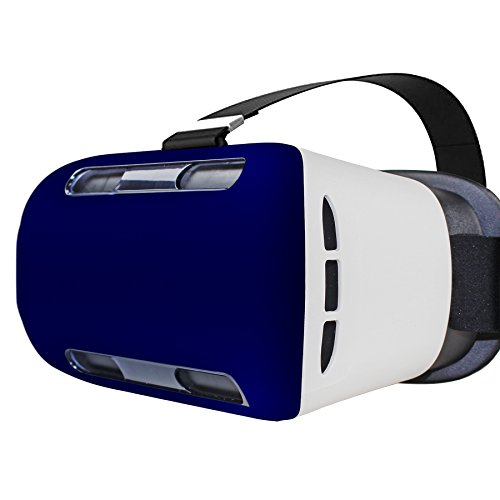 3D VR Goggles Glasses Virtual Headset ,Virtual Reality Headset with Ajustable Lens DIY 3D Immersive Movies and Games Compatible with Android or Apple up to 6 inch Cell Phones Panels Blue