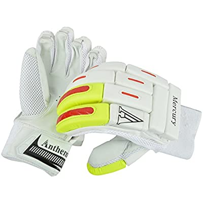 Anthem Mercury Cricket Batting Gloves (Full Size, White)