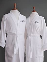 Luxor Linens Egyptian Cotton His & Hers Terry Robes – Perfect Wedding Gifts! – His & Hers