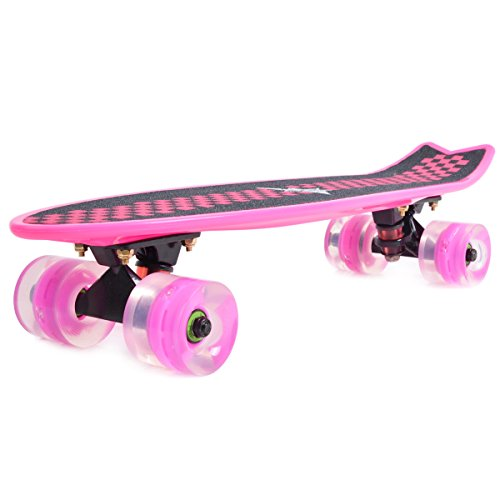 Actitop-MS303-2-22-Inch-Mini-Complete-Skateboard-Plastic-Cruiser-Banana-Skate-Board-With-Light-up-Wheels
