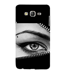 printtech Girl Eye Looking Back Case Cover for Samsung Galaxy On5