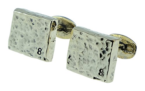 8 Year Anniversary Bronze Cufflinks 8 Stamped into Corner - 8th Wedding Anniversary Gift Idea