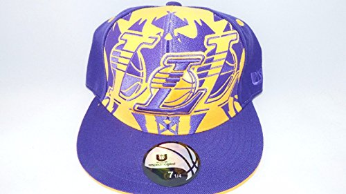 NEW HAT CAP FITTED NBA LOS ANGELES LAKERS SIZE 8 YELLOW PURPLE Listed for charity (Lakers Cheerleading Outfit)