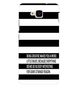 EPICCASE Being Creative Mobile Back Case Cover For Huawei Honor 5c (Designer Case)