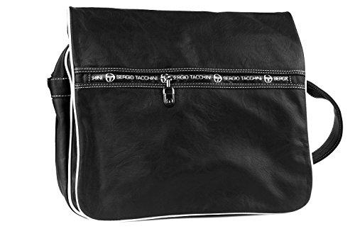 Cartella uomo SERGIO TACCHINI nera borsa con patta messanger F442
