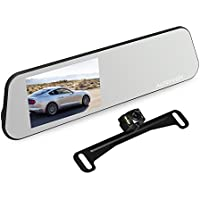 AUTO-VOX M6 Backup Camera and Monitor Kit 4.5 IPS Touch Screen Full HD 1080P Mirror Dash Cam