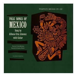 folk songs of mexico   alfonso cruz jimenez  lp