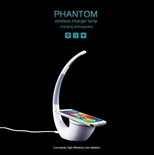 Karnotech®Phantom Multi-purpose Wireless Charger Charge Station with LED Lamp for Samsung Galaxy S6 Edge, Samsung Galaxy S6, Nexus 6, Nexus...