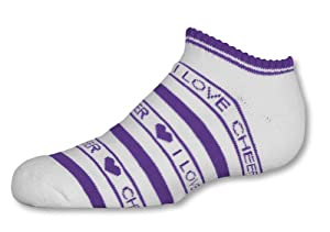 IN-STOCK LOW ANKLE SOCK WITH STRIPES PURPLE ADULT