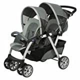 Active Chicco Together Twin Pushchair in Graphite - Cleva Edition ChildSAFE Door Stopz Bundle