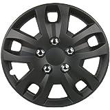 Unitec 748 Jeu de 4 enjoliveurs Sepang 100 % ABS (Noir mat), 4 pièces