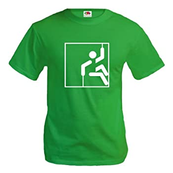 T-Shirt Escalade - Climbing-Pictogramme-M-Kellygreen-White