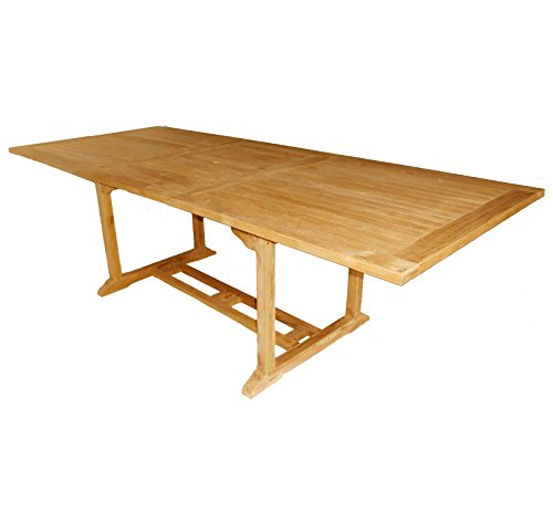 Bentley Garden Solid Wooden Teak Garden Patio Rectangular Extendable Table