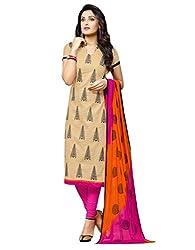 Fabgruh Beautiful Beige Colours Dress Material FG-SHD49003