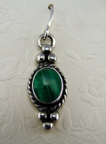 Malachite Sterling Silver Hook Earrings When You Need Just a Little Bit of Color