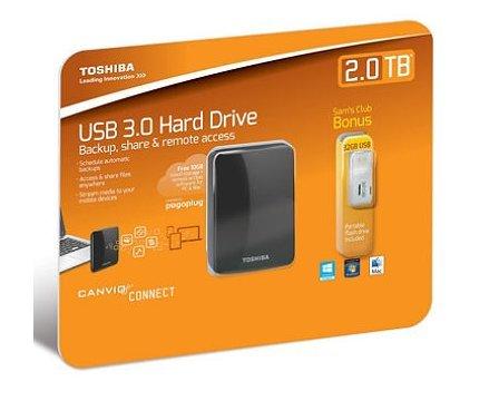 Toshiba Canvio Connect 2.0TB Portable Hard Drive with 32GB USB 2.0 Flash Drive
