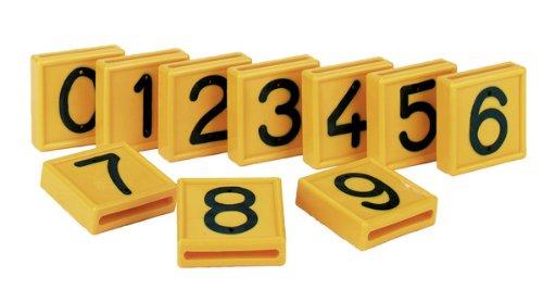 Nummernblock, gelb einstellig, Nr. 2