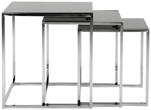 AC-Design-Furniture-0426862149-3-Satz-Tisch-Gurli-Schwarzglas-8-mm-Gestell-Metall-verchromt