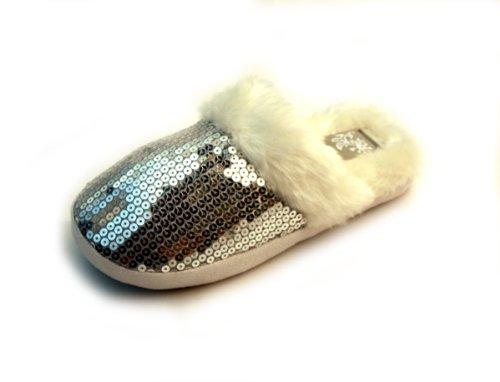 Cheap Luckers Women's Silver Sequin Slippers (B008R073PK)