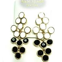 kate spade ブラック&ホワイト シャンデリア ピアス