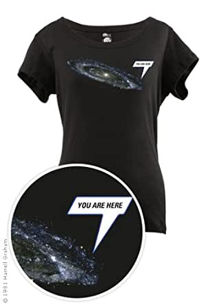 You Are Here Scoop Neck Women's T-shirt (Medium)