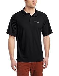 Columbia Men's Terminal Tackle Short Sleeve Polo, Small, Black