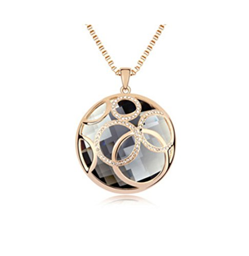 Aibearty Women Rolling Ball Classic Gold Plated Acid Bright Fashion Long Boutique Sweater Necklace Austria Crystal