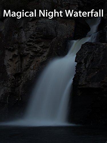 Magical Night Waterfall