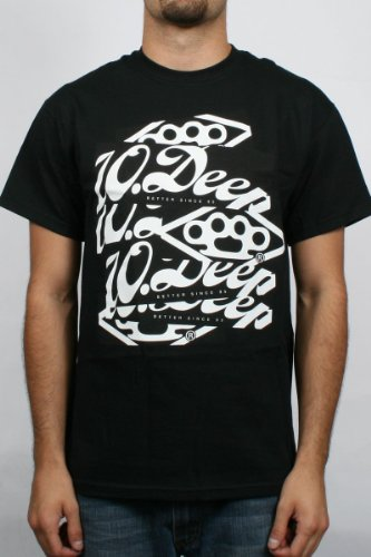 10 Deep - Stickr Attack 3 Mens T-Shirt in Black , Size: XXX-Large, Color: Black